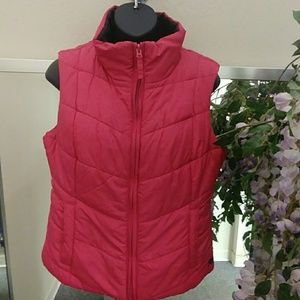 Aeropostale Pink Quilted Vest